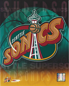 Details about SEATTLE SONICS SUPERSONICS LOGO 8 X 10 PHOTO WITH ULTRA PRO  TOPLOADER.
