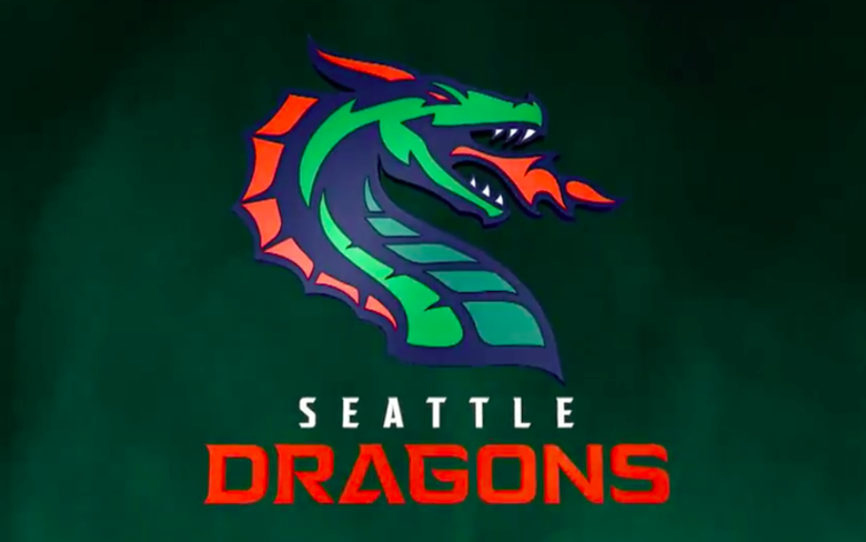 The XFL\'s Seattle Dragons are born, with a fiery green and.
