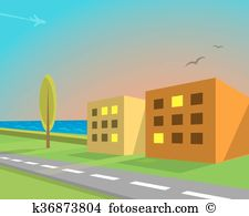 Seaview Clipart and Illustration. 15 seaview clip art vector EPS.