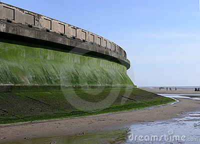 Sea Wall Stock Photo.