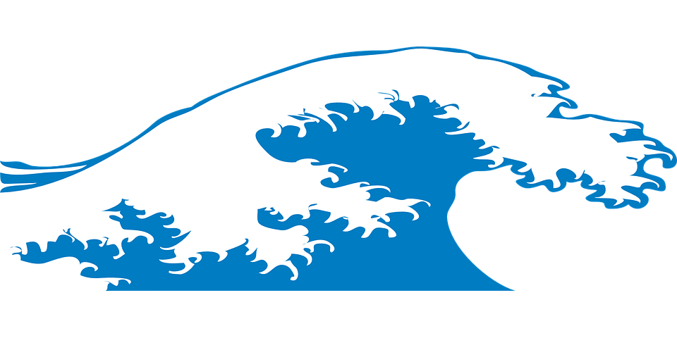 Free vector graphic: Wave, Sea, Water, Beach, Ocean.