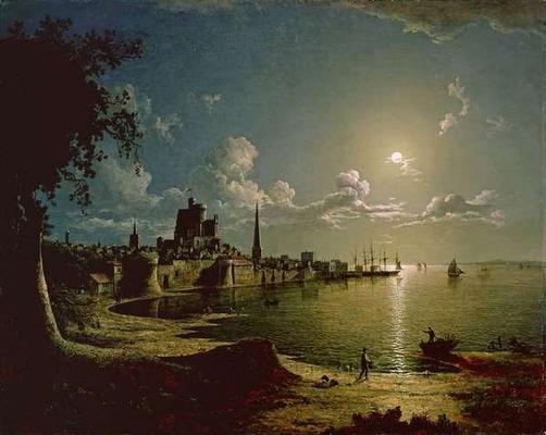Moonlight Scene, Southampton, 1820 (oil.