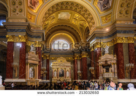 Interior Portuguese Catholic Church Lisbon Portugal Stock Photo.