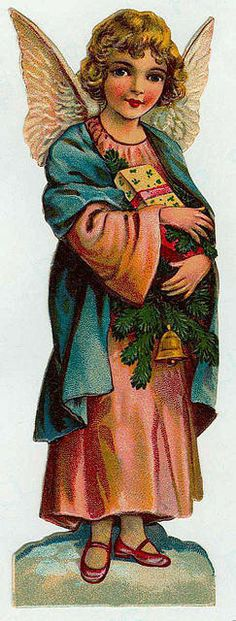 Vintage Victorian Christmas Die Cut Clip Art Day Eight.