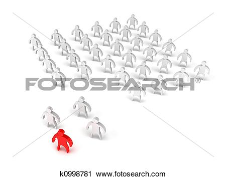 Clipart of Group secession k0998781.