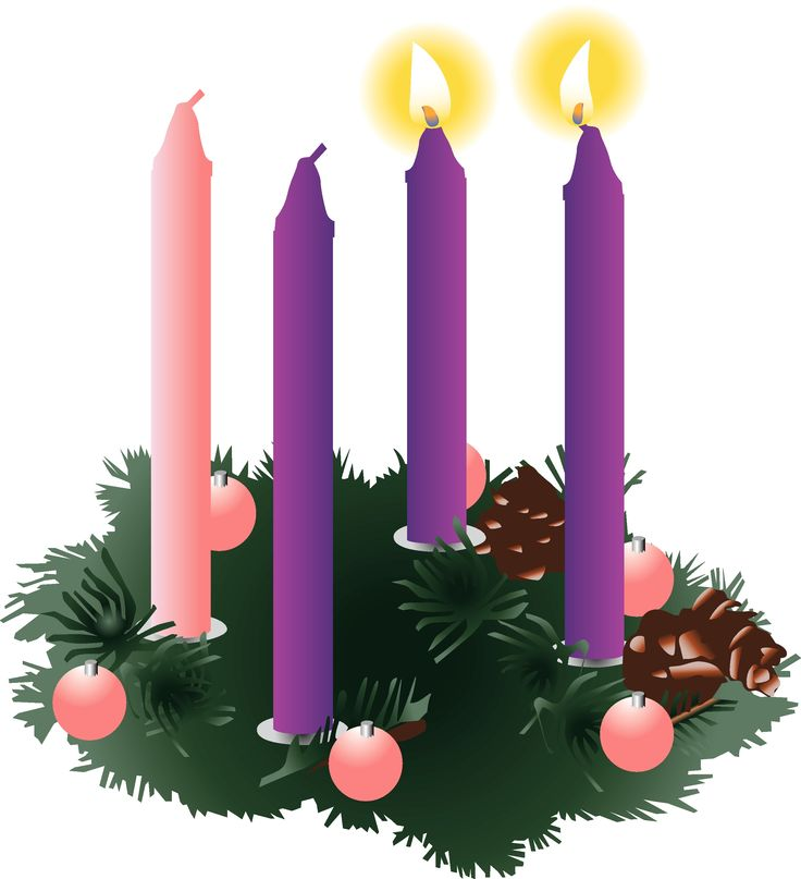Free clipart wreath advent 2nd sunday.
