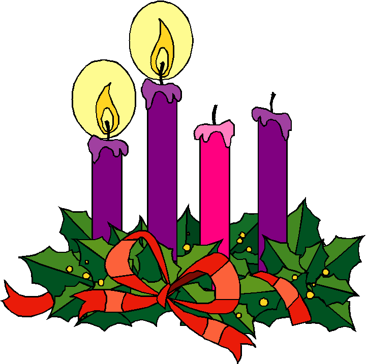 Second sunday of advent love candle clipart.
