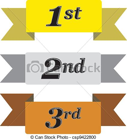 Vector Clipart of Winners Ribbons.