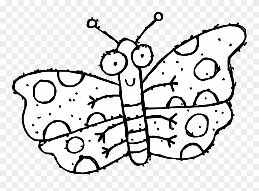 Butterfly 43 Black White Line Art Coloring Book Colouring.