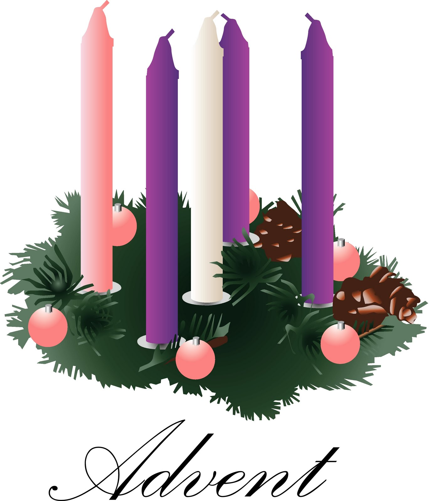 Advent Family Cliparts.