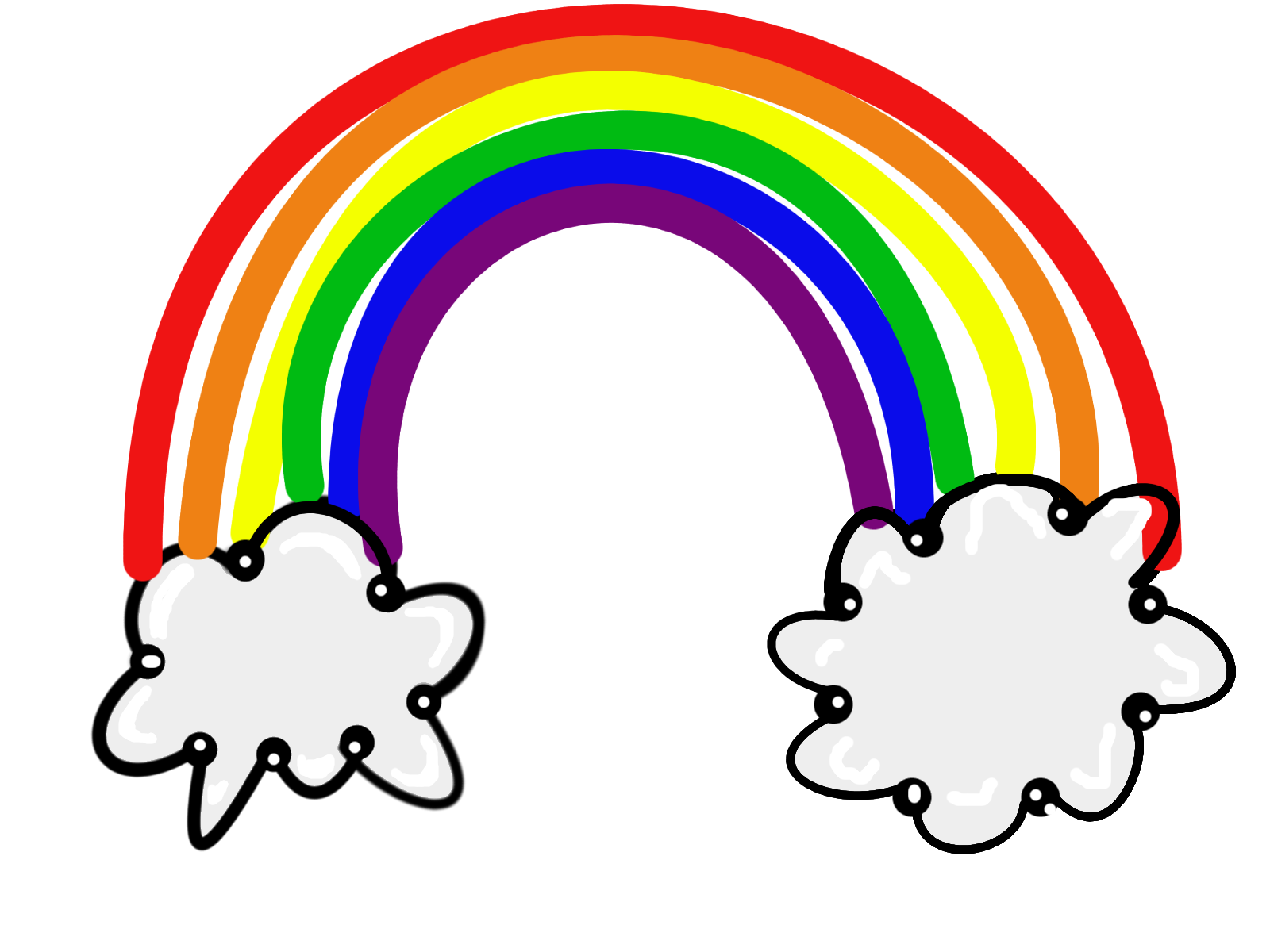 Rainbow colors clipart.