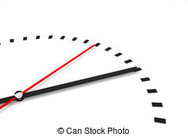 Stock Illustrations of clock with red seconds hand area best time.