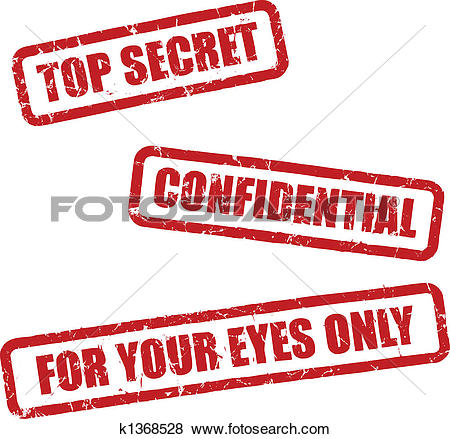 Clip Art of top secret stamp k9362987.