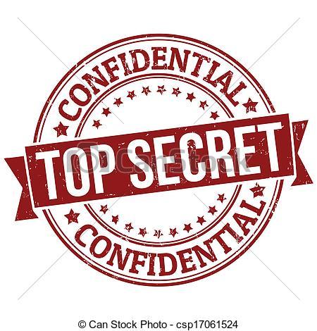 Vector Illustration of Top secret stamp csp14552723.
