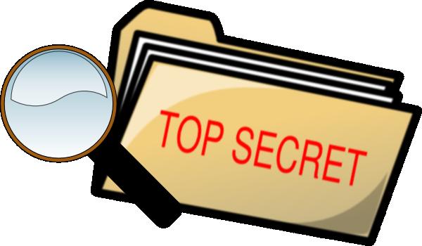 Top Secret Folder And Magnifying Glass Clip Art at Clker.com.