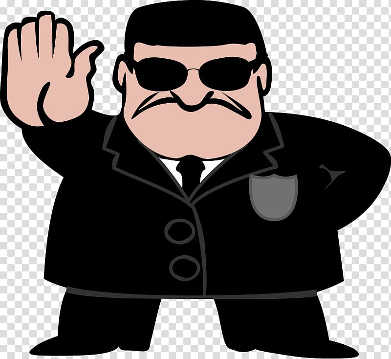 Secret Agent transparent background PNG clipart.