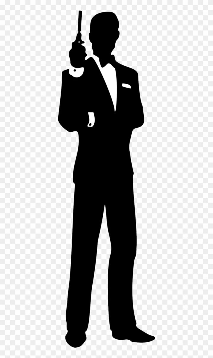 Secret Agent Silhouette Clip Art Download James Bond Black.