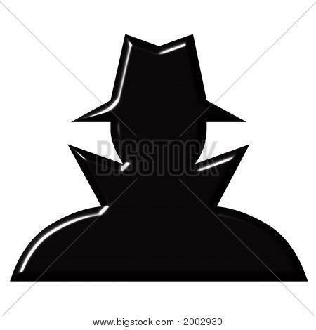 Secret Agent Silhouette Vector Secret agent silhouette.