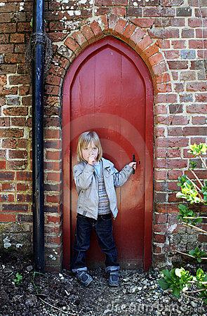 Secret Door Stock Images.