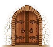 Wooden Door Clip Art.