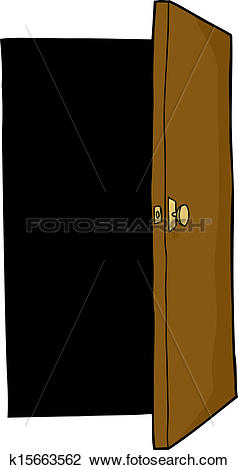 Clipart of Open Door k15663562.
