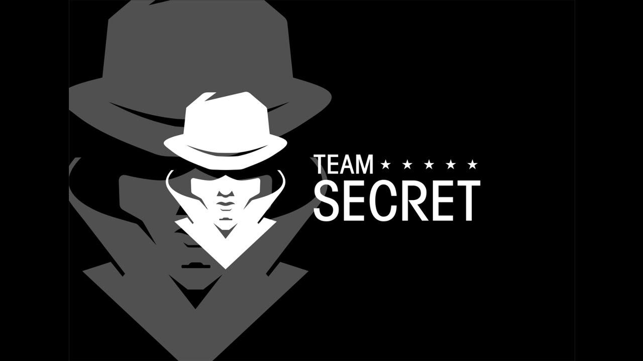 Team secret logo speed art design.