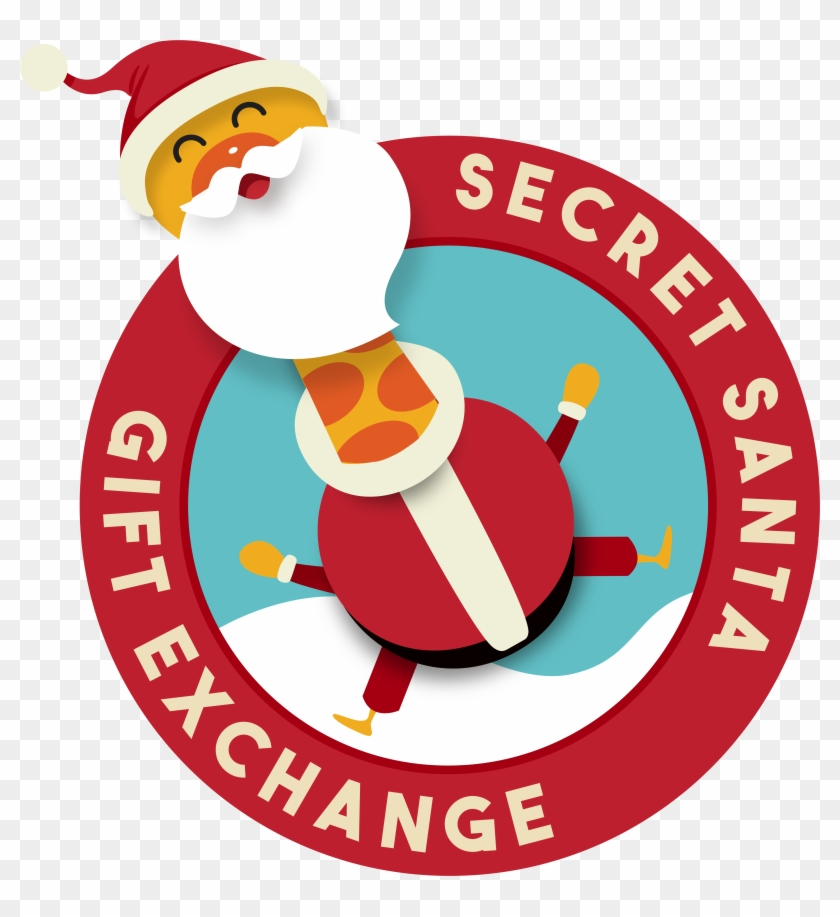 Funny Secret Santa Clipart.