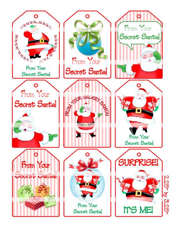 Secret Santa Gift Tag Poem.