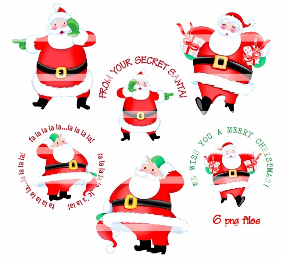 Free secret santa clipart.
