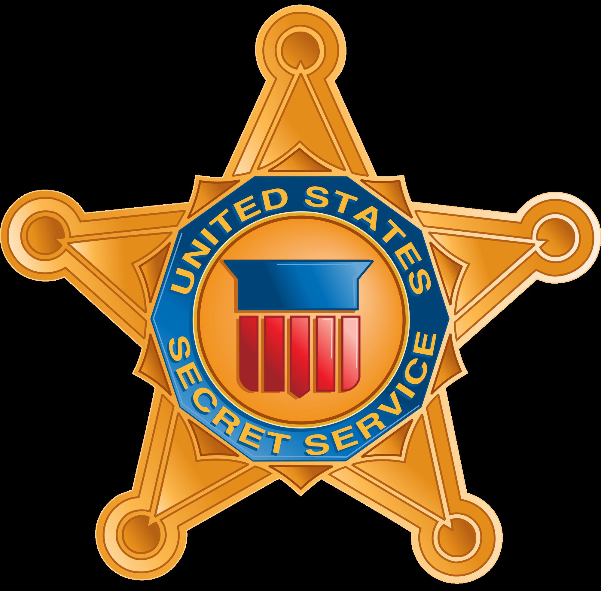 Us secret service badge clipart.