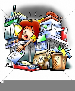 Clipart Frazzled Secretary.