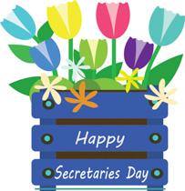 Free Secretarys Day Clipart.
