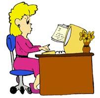 School secretary clipart.