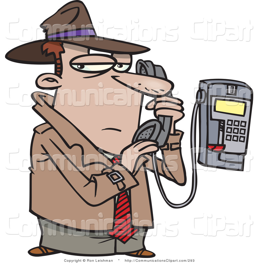 Communication Clipart of an Undercover Private Eye Detective.