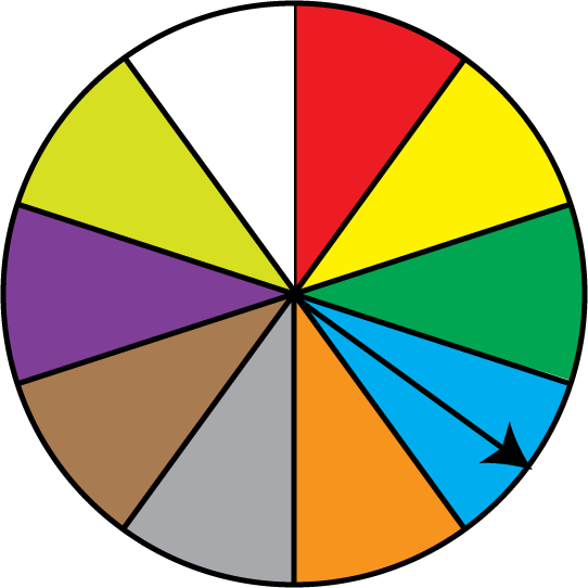 Math Clip Art: Spinner 10 Sections.