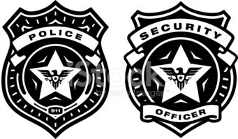 Police and Security Badges stock vectors.
