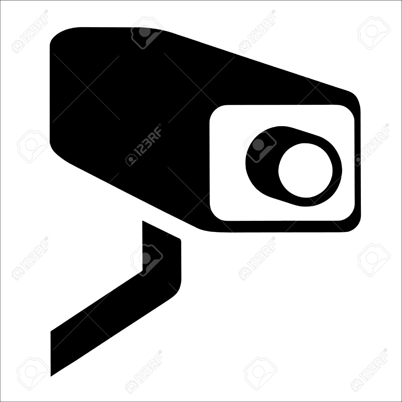 Free security camera outline clipart.