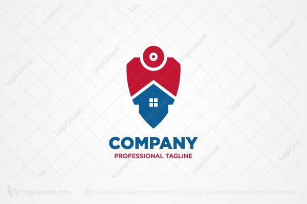 Exclusive Logo 114506, Home Security Camera Logo.