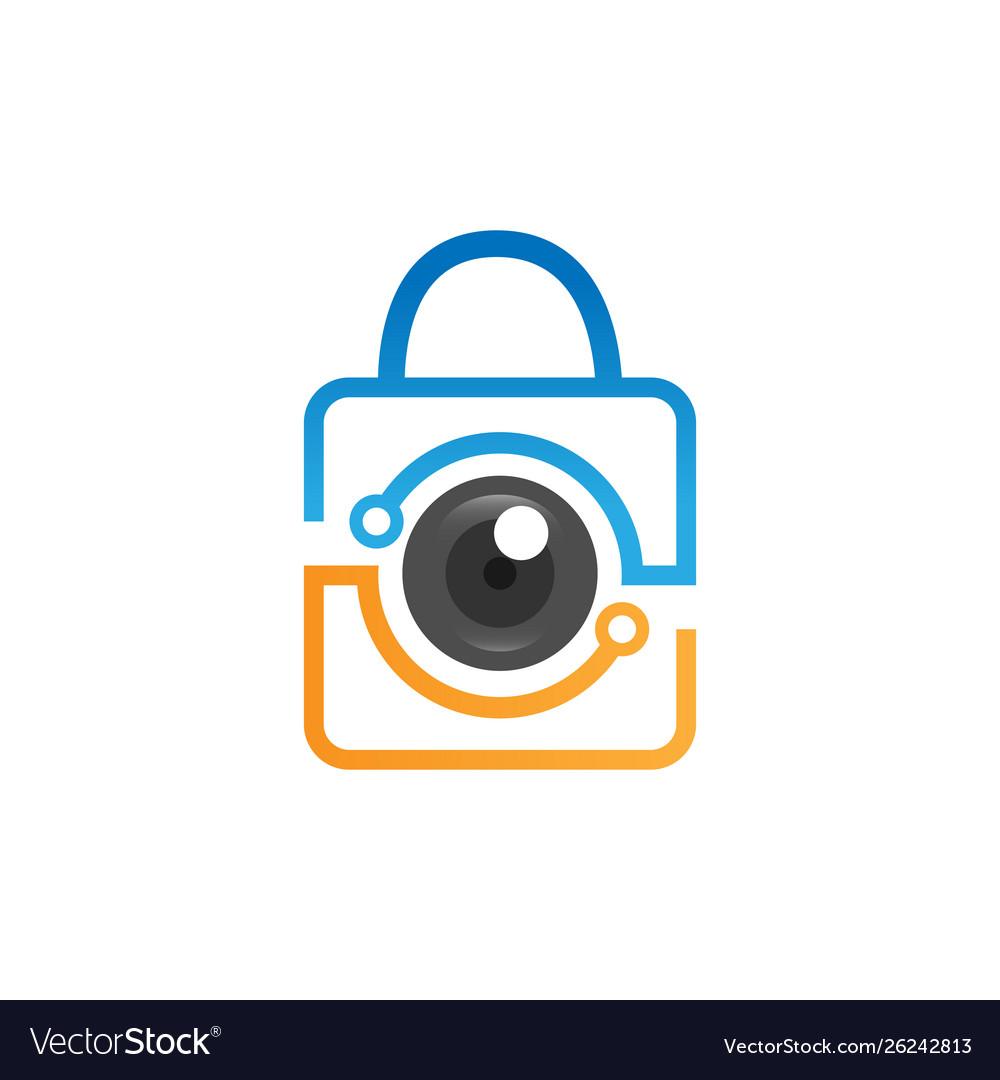 Security camera logo technology.