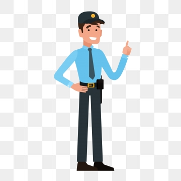 Cartoon Security Guard Png, Vector, PSD, and Clipart With.