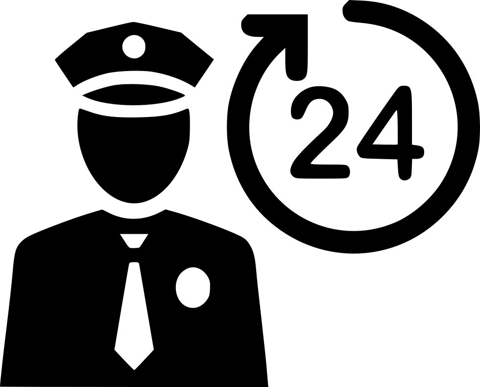 Security Guard Protect Cop Offer Pole Protect Svg Png Icon.