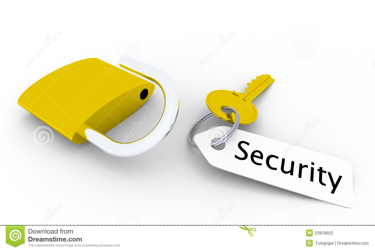 Security Key Stock Photography.