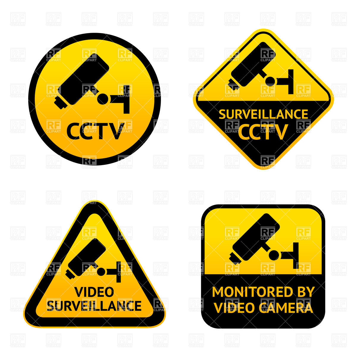 Security Camera Sign Clip Art Are you concerned about security of.