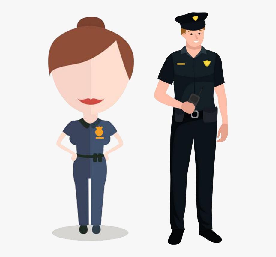 Police Officer Security Guard Cartoon.