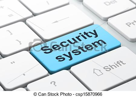Stock Illustration of Security concept: computer keyboard with.