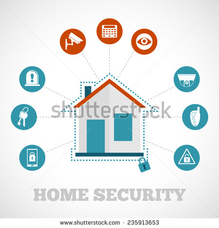 Home Security Systems Clip Art.