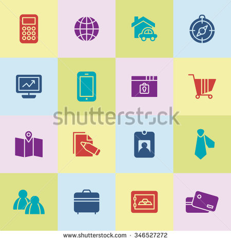 A Set Of Vector Icon Graphic For Business, Finance, Office.