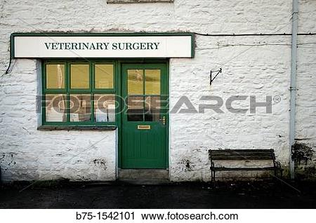 Stock Photography of Old fashion Veterinary Surgery in Sedbergh.