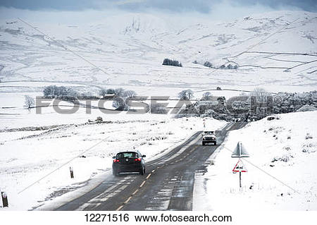 Stock Images of Traffic on the A683 between Kirkby Stephen and.