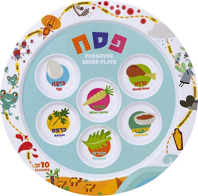 Children\'s Passover Melamine Seder Plate 10 Plagues Design 9\